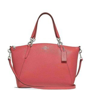 Coach Small Kelsey Red Pebbled Leather Cross Body